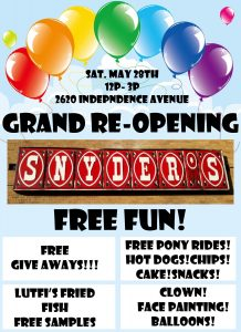 Snyder's Grand RE-Opening Free Fun Day
