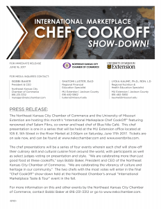 Press Release for the International Marketplace Chef CookOff Show-Down!
